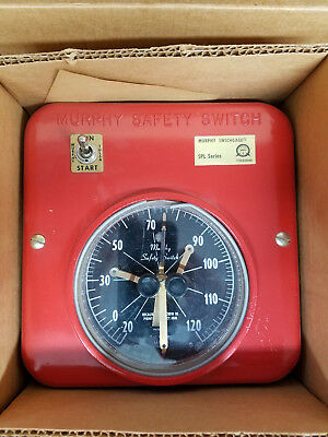 "Spl120 Murphy Temp Switchgage, Nos, 4.5"" Dial, Indicating & Critical Temp Limit"