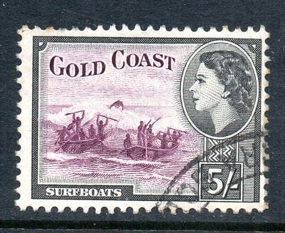 Gold Coast - 1952 Sg 163 5/- Purple and Black Fine Used - Cat £8