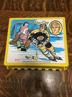 Bobby Orr Vintage Lunch Box From 70's Black+Yellow Very Rare **SALE**