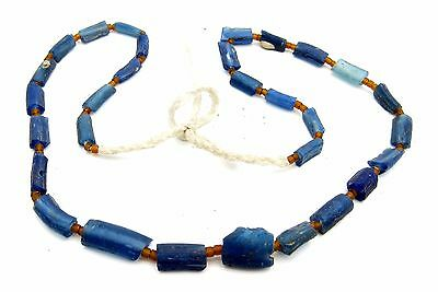 Ancient Glass Beaded Necklace - Very Rare Fantastic Wearable Artifact - J887