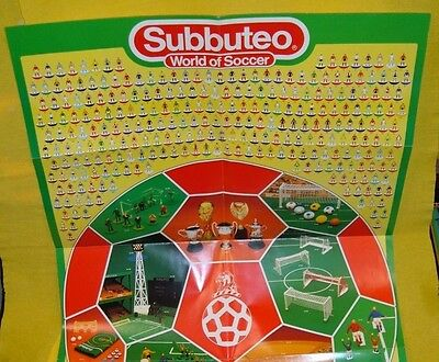 SUBBUTEO CALCIO FOOTBALL 1985/86 CLUB POSTER WORLD SOCCER squadre CATALOG TORNEO