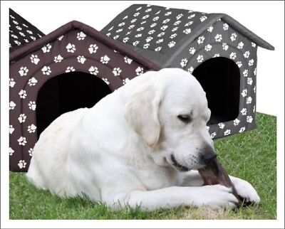 Large Dog House Kennel Igloo Stable Tent Akita Labrador Machine Washable XXXL