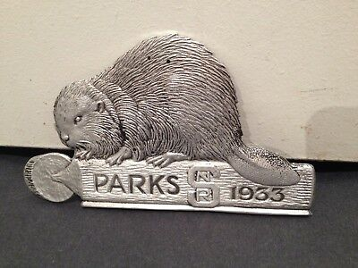Saskatchewan Provincial Parks Pass 1933 Beaver Grill Badge Collectible