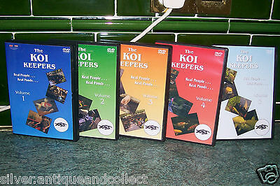 THE KOI KEEPERS,5 DVD SET,VOL 1,2,3,4 & 5, complete with cases & covers.
