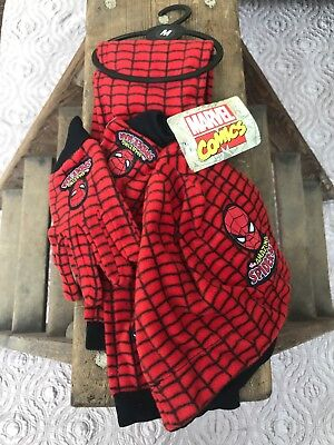 Boys Spider Man Hat Scarf And Glove Set New Kids Marvel Winter Set SIZE MEDUIM