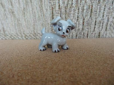 Vintage Wade Scamp DISNEY Whimsie from Lady and the Tramp with Blue Wade Stamp