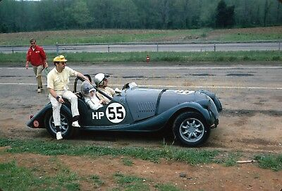 Original 1970 35mm slide. SCCA Nationals, VIR. #55  H / Production Morgan