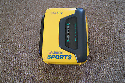 Rare Walkman Sports Sony WM-B53 Player Cassette Jaune Vintage Retro CD Tape