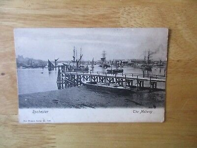 vintage postcard * Rochester, Kent - The Medway * Wrench Series * posted 1909