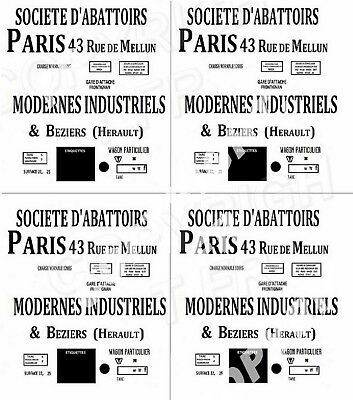 DECALCOMANIES DECALS Ho SOCIETE D'ABATTOIRS MODERNES INDUSTRIELS & BEZIERS 2 wag