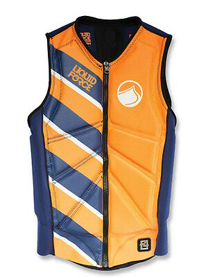 Wakeboard Vest Liquid Force Z-Cardigan Comp Navy Orange