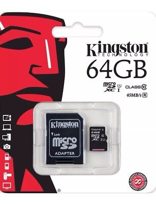 Kingston Micro Sd 64Gb Sdxc Memory Card Class 10 Uhs-1 Mobile Camera Tablet