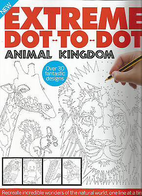 Extreme Dot-to-Dot: ANIMAL KINGDOM  # NEW # ADULT intricate puzzles # FREEPOST