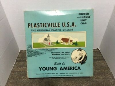 Vintage Plasticville Church and House Unit CH-9 Box Only.
