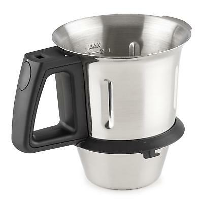 2 Litre Steel Cup Stand Mixer Spare Part Drinks Kitchen Utensil Rustfree Measure