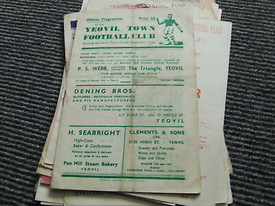 Yeovil Town V Colchester United 1948-9 Sl Cup Final