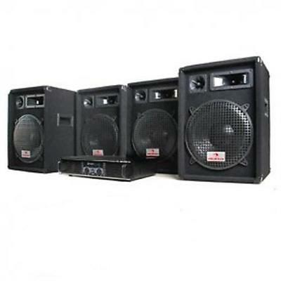 DJ PA SYSTEM 2000 WATT AMPLIFIER 4x 600W MAX SPEAKERS KARAOKE SET DISCO PARTY