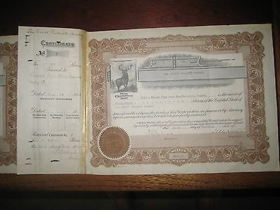 1926 Colt's Patent Firearms Company/Colt's Products Stock Certificates #1,#2,#3