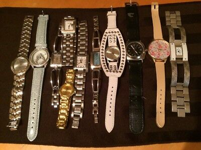 Junk Drawer Watch Lot Roots Lucky Louis Arden & More For Parts Repairs Craft Etc
