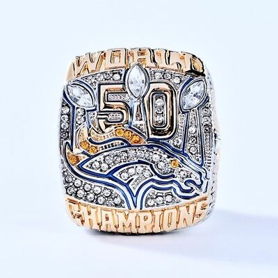 2015 Denver Broncos Super Bowl 50 World Manning Scores Championship Ring