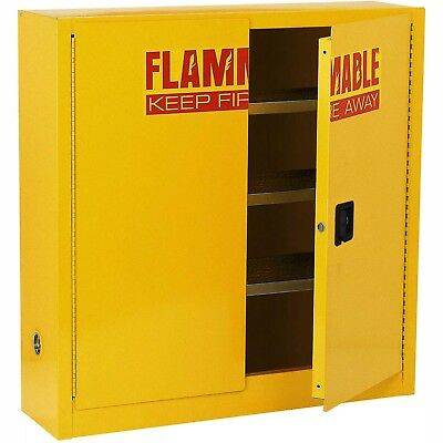Global? Compact Flammable Storage Cabinet 24 Gallon Capacity