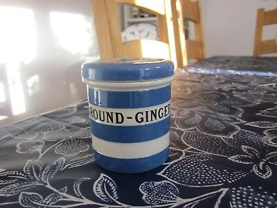 Cornishware T G Green 'ground - Ginger' Caddy Cornish Ware