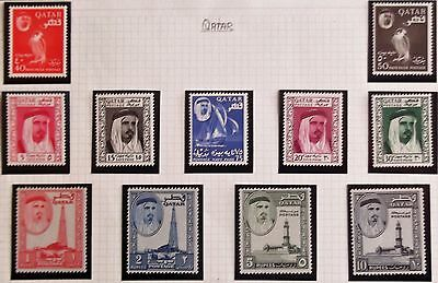(D253) Qatar 1961 SG27-37 Set of (11) MH.