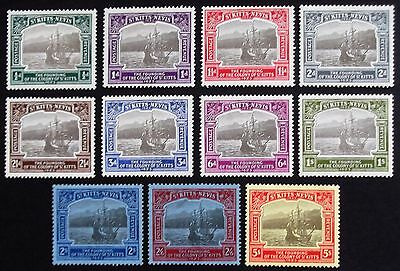 (A1257) St Kitts and Nevis 1923 SG 48-59 Set to 5/- (11) LMM.