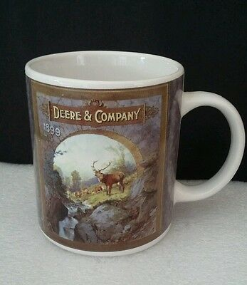 John Deere  Deere & Company Coffee Mug Cup  Mountain Scene Licensed Product