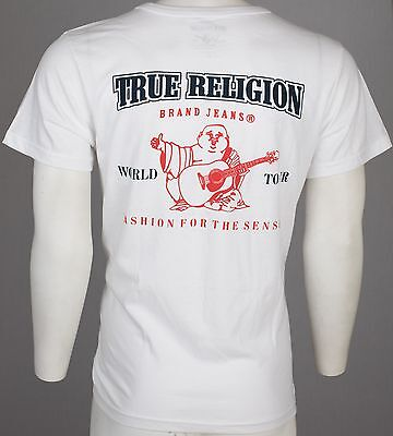 $44 TRUE RELIGION Buddha T-SHIRT White KIDS BOYS YOUTH SIZE LARGE L NWT