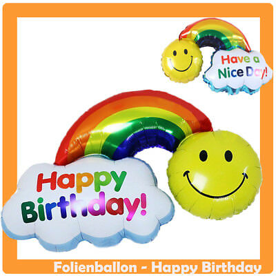 XL Folienballon Happy Birthday 91 x 70cm Geburtstag Deko Party Luftballon Helium