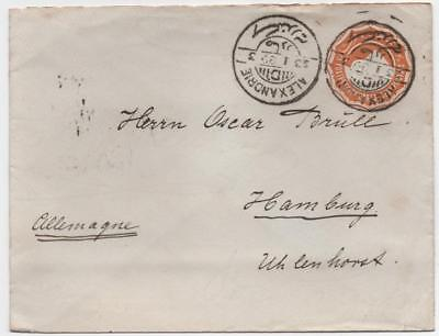 EGYPT: 1889 Prepaid Printed Cover to Germany - Alexandrie Cancels (10990)