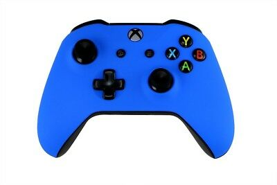 Microsoft Xbox One S Wireless Controller Custom Soft Touch Blue Un-Modded
