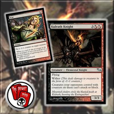 Kulrath Knight + Scar ~ Shadowmoor Wither ~ MTG Magic the Gathering