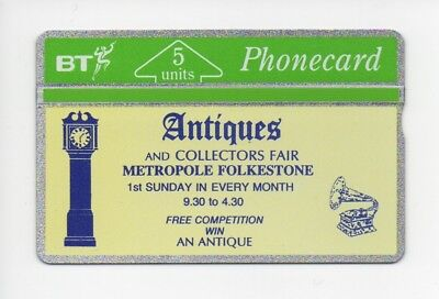 BT Phonecard BTG065, Antiques & Collectors Fair Metropole Folkstone, mint unused