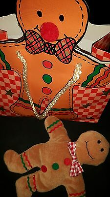 Gingerbread Man ~ Soft Toy in his own Shaped Bag ♡♡♡