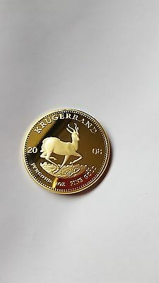 Beautiful Pure Gold Plated 2008 South African Krugerrand