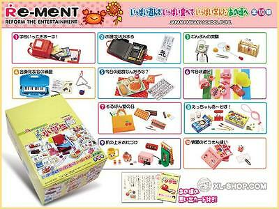 Re-ment Primary School Students Complete Set 10 EXTREMELY RARE School Supplies