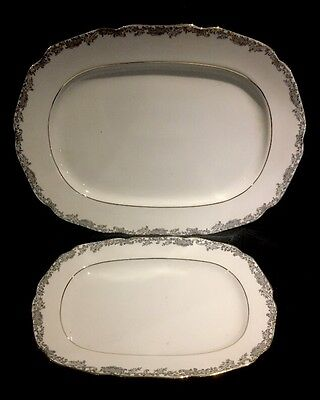 Lot of 2 Hutschenreuther Hohenberg Serving Plates Germany 1814 CM