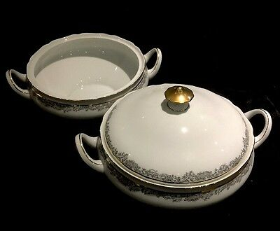 Lot of 2 Hutschenreuther Hohenberg Round Serving Bowls One w/Lid Germany 1814 CM