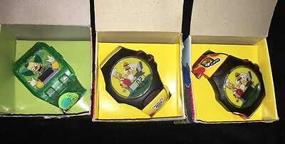The Simpsons 3 Watch Set (2 Homer, 1 Krusty) New in Boxes, 2002 Wristwatches