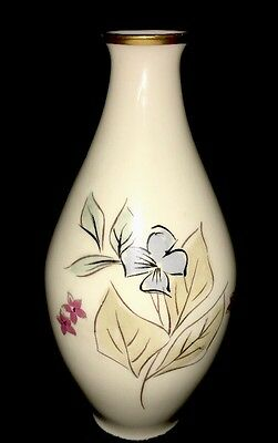 Rosenthal KPM Krister Vase with Gold Trim Blue and Pink Flowers