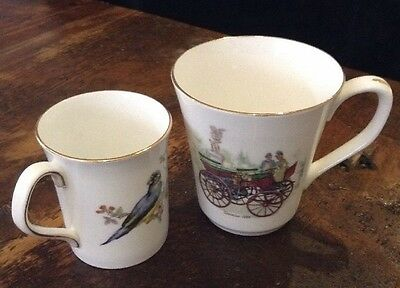 Lot of 2 Vintage Royal Fenton Large-Rosina Small Coffee Cups Fine Bone China Eng
