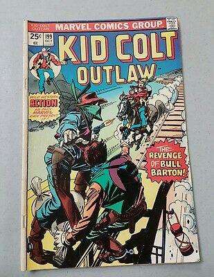 Marvel Comics Book Kid Colt Outlaw No. 199 Oct 1975