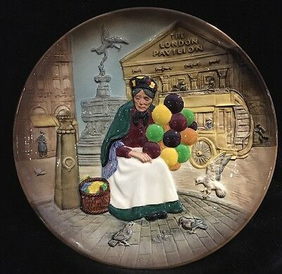 Vtg Royal Doulton The Old Balloon Lady Seller Plate 50th Anniversary