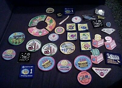 37 Mixed Brownies and Girl Guides Badges and Pins