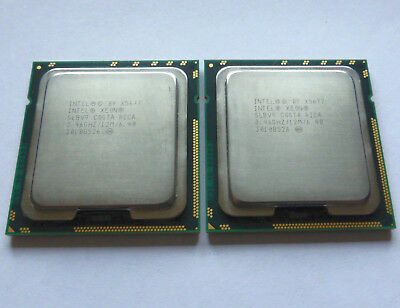 Matched Pair of Intel Xeon X5677 SLBV9 3.46 GHz 4-Core CPUs