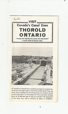 1960's THORALD ONTARIO BROCHURE CANADA'S CANAL ZONE INDUSTRY  MAP