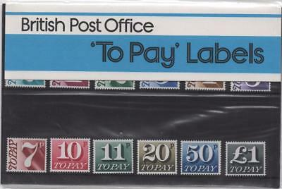 GB: 1977 Postage Due/To Pay Presentation Pack - No.93 MNH - Set of 12 (11290)