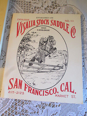Visalia Stock Saddle Co. Catalog No.22 signed & numbered